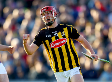 Adrian Mullen celebrating his recent goal against Wexford.