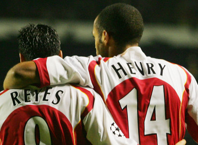 Reyes and Henry were team-mates at Arsenal.