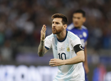 Messi hit the net in the 57th minute against Paraguay.