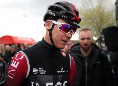Team INEOS' cyclist Chris Froome.