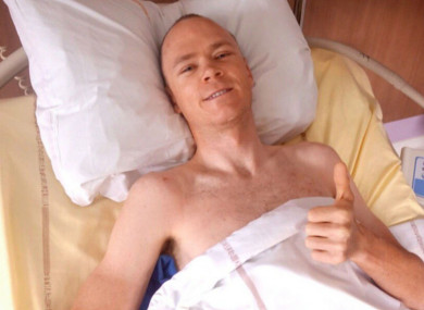Chris Froome in hospital.