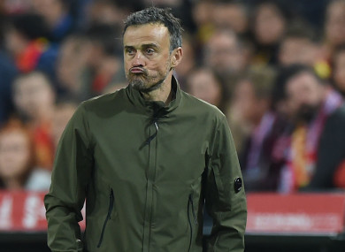 Spain head coach Luis Enrique.