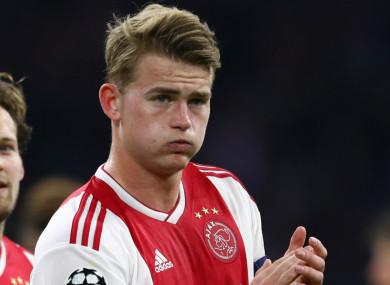 Ajax captain Matthijs de Ligt.