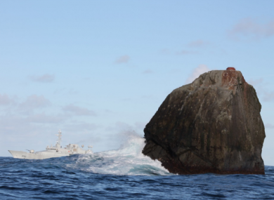 File photo of the Irish Naval Service vessel, LÉ Róisín, on routine patrol at Rockall