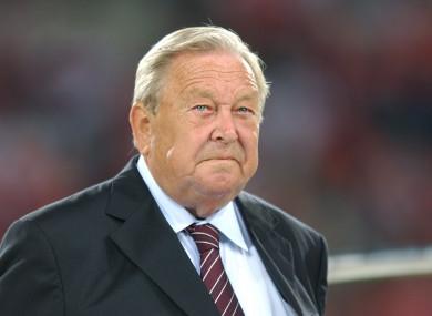 Former Uefa President Lennart Johansson.