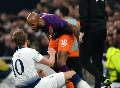 Fabian Delph and Harry Kane.