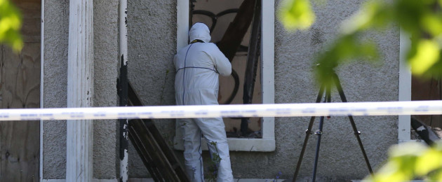 A Garda forensic team at the scene.