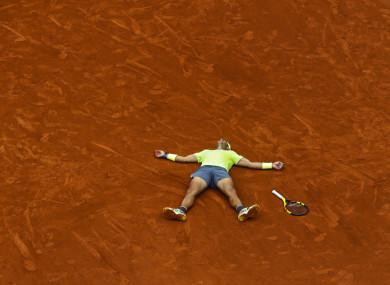 King of Clay: Rafael Nadal.