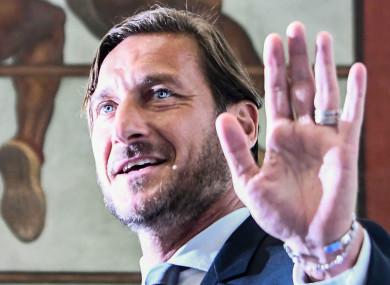 Former Roma director Francesco Totti.