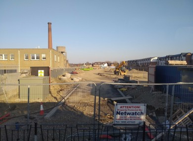The site in Glasnevin where houses are currently being built.