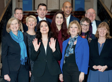 File photo of of Change UK's 11 MPs taken in February