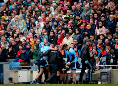 James McCarthy limped off in Dublin's Leinster SFC final win on Sunday.