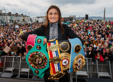 Katie Taylor's homecoming on June 7, 2019 after becoming the undisputed lightweight world champion.