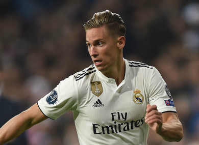 Marcos Llorente in action for Real Madrid.