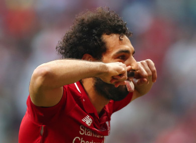 Salah: made up for last year's final disappointment.