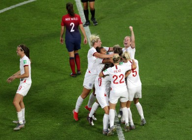 England will face either France or the USA in the last four.