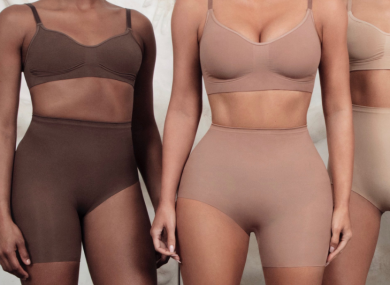 Kardashian shared images of the new underwear online yesterday.