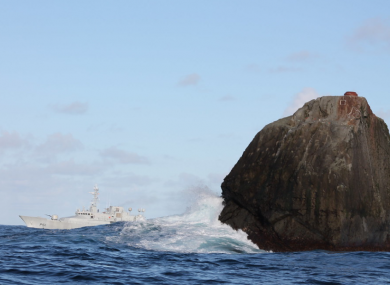 The Irish Naval Service vessel, LÉ Róisín, on patrol at Rockall. (File)