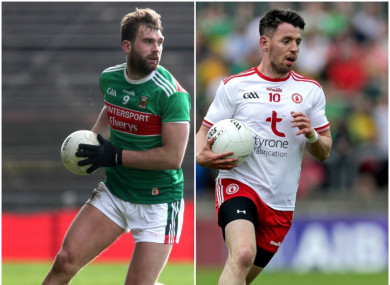 Mayo are heading to Newry while Tyrone are away to Longford.