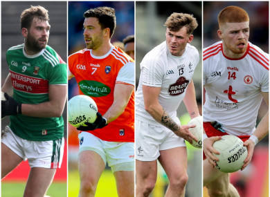 Mayo, Armagh, Kildare and Tyrone all in action next Saturday night.