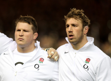 File photo: Hartley and Robshaw in 2012.