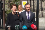 Ruth Morrissey and her husband Paul outside the Four Courts in Dublin after the High Court judgement last month.