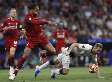 The Liverpool defender got the better of Kane in Madrid last weekend.