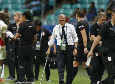 Uruguay manager, Oscar Tabarez.