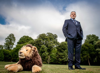 Gatland pictured in London today.