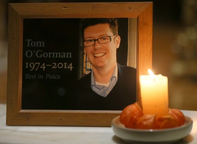 File photo of a picture of the late Tom O'Gorman.