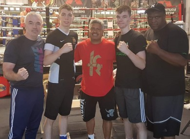 From left to right: Fergal McKenna, Stevie McKenna, Robert Garcia, Aaron McKenna and Courage Tshabalala.