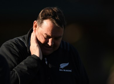 All Blacks boss Hansen released a statement on Wednesday.