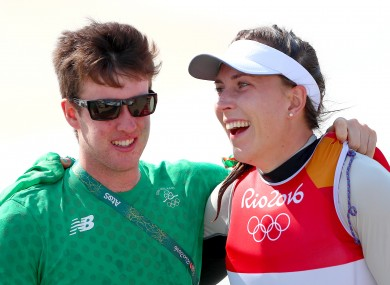 Lynch with Annalise Murphy at the Rio Olympics.