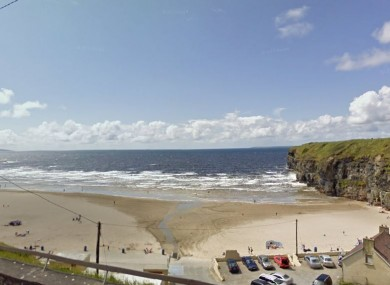 The pair got into difficulty off Ballybunion beach.