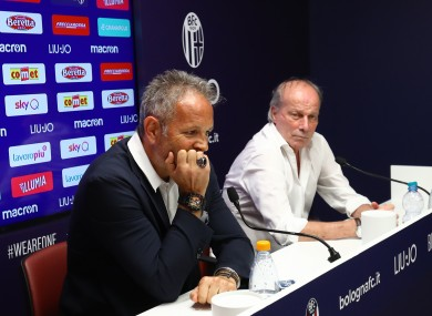 Sinisa Mihajlovic at a press conference today.