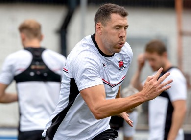 Gartland at Dundalk training this morning ahead of their Champions League clash with Riga.