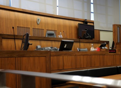 File photo. Courtroom at the Criminal Courts of Justice in Dublin