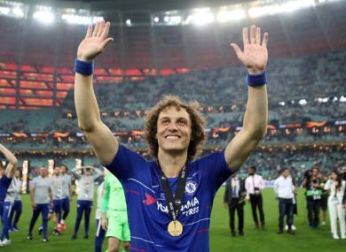 David Luiz is among those in the Chelsea squad for their pre-season trip to Ireland.