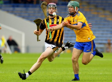Clare's Conner Hegarty in action against Kilkenny's Pierce Blanchfield.