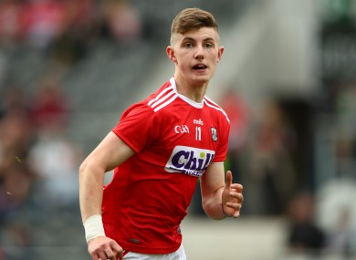Conor Corbett hit 1-3 today in Cork's victory.