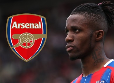 Wilfried Zaha has been linked with a move to Arsenal this summer.