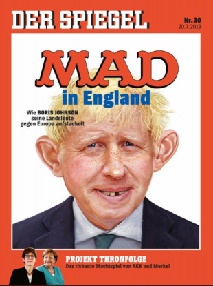 German magazine Der Spiegel's depiction of Boris Johnson.