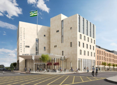 CGI view of the new student accommodation.