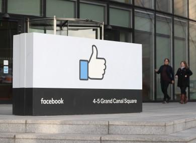 File photo. Facebook's European headquarters in Dublin.