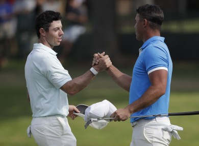 Rory McIlroy and Brooks Koepka.