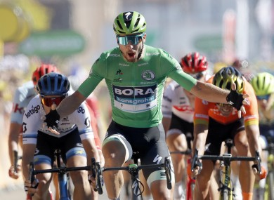 Slovak Peter Sagan wins today's fifth stage at the Tour de France.