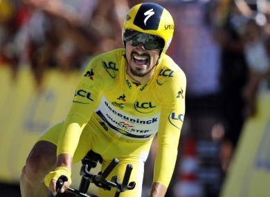 A delighted Julian Alaphilippe.