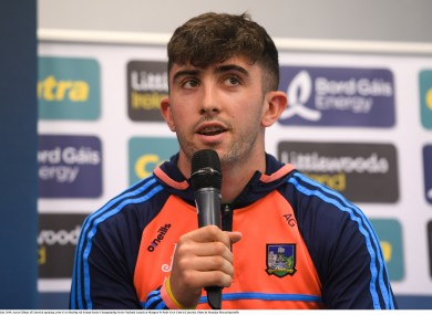 Aaron Gillane was speaking at the All-Ireland SHC series national launch.