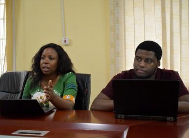 Tazirwa Chipeta and Jimmy Kachale of the  Family Planning Association of Malawi