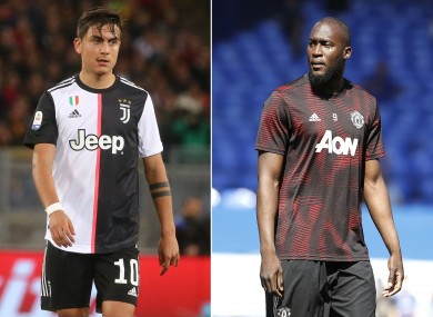 Paulo Dybala and Romelu Lukaku.